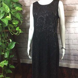 Sleeveless black silver glitter formal sz 12 dress